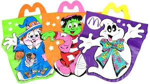 minion halloween basket mcdonald u0027s halloween glow in the dark mcboo bags complete set of 3