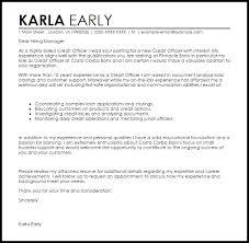 application letter banking and finance credit officer cover letter sample livecareer