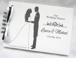 the wedding planner book personalised groom wedding planner photo scrapbook album