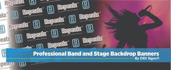 custom photo backdrops ddi signs band backdrops stage banners band scrims fabric