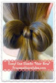 hairstyles with one elastic 1 elastic bow made from hair easy hairstyles easy hairstyles and