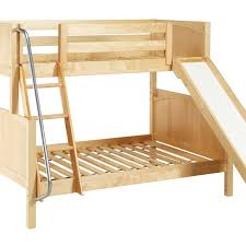 metal loft bed with slide coaster kids twin metal loft bunk bed