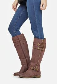 justfab s boots karly in burgundy get great deals at justfab