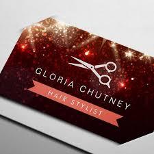 modern hair stylist pink glitter sparkle business card templates