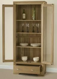 Oak Glazed Display Cabinet Bevel Natural Solid Oak Glazed Display Cabinet Display Cabinets