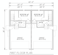 Duplex Floor Plans 3 Bedroom by 100 Duplex Floor Plans With Garage House Plans For Duplexes