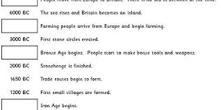 stone age to bronze age timeline classroom secrets