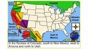 United States Map With Oceans by The Western States Geography Song Youtube