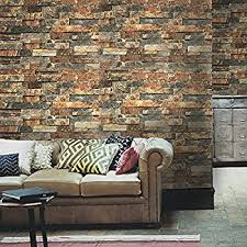 haokhome 91302 modern faux brick stone textured wallpaper