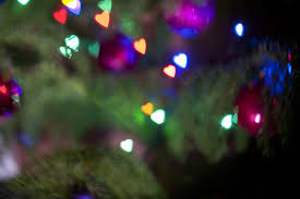 christmas tree shaped lights free image of christmas tree ornated with heart shaped lights