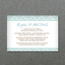 reception card reception card template retro diamond print