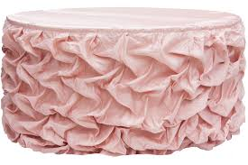 Pink Table Skirt by 17ft Gathered Lamour Satin Table Skirt Blush Rose Gold Cv Linens