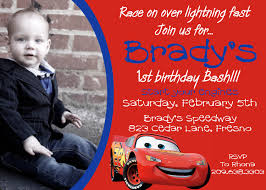 Designs For Birthday Invitation Cards Disney Cars Birthday Invitations Kawaiitheo Com
