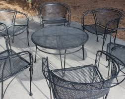 Patio Table 6 Chairs Wrought Iron Patio Furniture Dallas Roselawnlutheran
