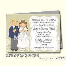 communion invitations boy boy and girl communion invitation for 1st