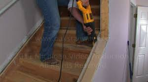 how to remove nosing from stairs to install oak wood stair treads