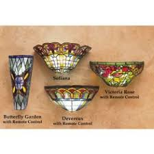 Stained Glass Wall Sconce Lilies Traditional Wall Light Lighting Pinterest