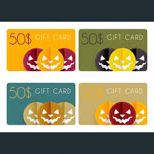 halloween gift cards vector free download