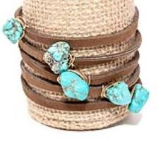 leather wrap bracelet with stones images Amanda blu amanda blu wholesalerock candy leather wrap bracelet jpeg