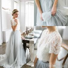 2016 country style bohemian bridesmaid dresses top lace short