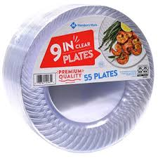 clear plastic plates member s clear plastic plates 9 55 ct sam s club