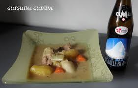 cuisine à la bière blanquette de veau à la bière guiguine cuisine