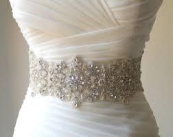 pearl bridal sash etsy