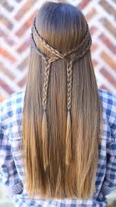 Simple And Cute Hairstyle by Double Braid Tieback U2013 Diy Cute Girls Hairstyles
