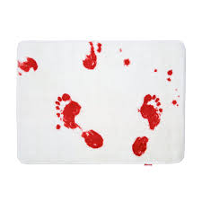 10 weird strange wtf things you can buy for the bathroom turn your bathroom into a scene from a horror movie with these spinning hat bloody hand print bathroom products you can get bloody shower curtains
