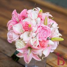 Roses And Lilies Wedding Bouquets With Stargazer Lilies And Roses Tbrb Info