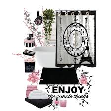 Paris Home Decor Accessories Black And Pink Bathroom Accessories Paris Black White Pink