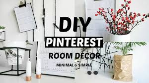 Bedroom Decor Diy Pinterest by Diy Pinterest Inspired Room Decor Minimal And Affordable 2016