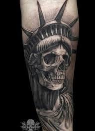 liberty death statue skull tattoo skulls pinterest liberty
