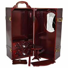 18 inch vanity stool amazon com 18 inch doll u0026 clothes mahogany storage closet