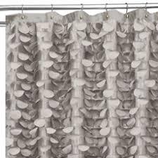 Lush Shower Curtains Lush Decor 72 X 72 Gray Polyester Gray Gigi Shower Curtain Bed