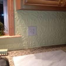 Easy Economical Punched Tin Backsplash The Whole Kitchen - Tin tile backsplash