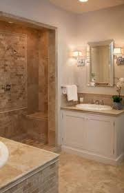 An Elegant Bathroom Featuring Claros Silver Travertine - Travertine in bathroom