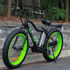 Rad Power Bikes Electric Bike by Big Cat E Bykes Electric Fat Cat X Mountain Bike Black Green