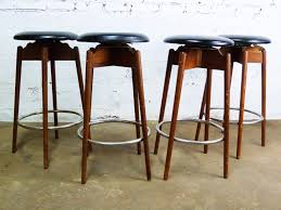 bar stools walnut mid century modern bar stools industrial style