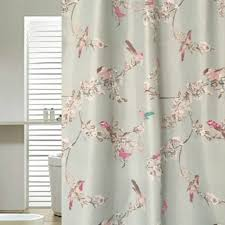 chic blue floral bird luxury shower curtains in prepossessing with
