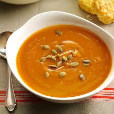 thanksgiving soups recipes spiced sweet potato soup recipe taste of home
