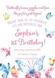 butterfly invitations watercolor birthday invitations butterfly birthday invitation