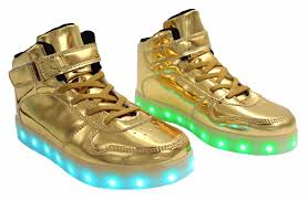 light up shoes gold high top galaxy led shoes light up high top strap lace men s sneakers