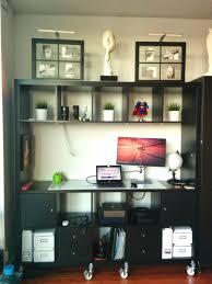 workspace desk bookshelf combo ikea expedit bookcase desk