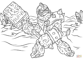 skylanders giants crusher coloring page free printable coloring