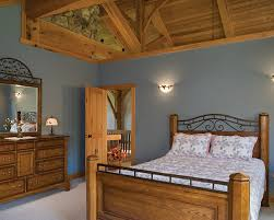Timber Frame Bed Scenic Valley View Timber Frame Home Master Bedroom Flickr