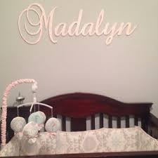 wooden name sign nursery large wooden name sign letters baby