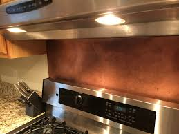 Rustic Brown Copper Backsplash - Copper backsplash