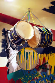 blog studio cultivate the beatles union jack rock and roll painted wall mural drum set chandelier