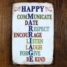 vintage door plate slogan happy house poster metal tin signs bar